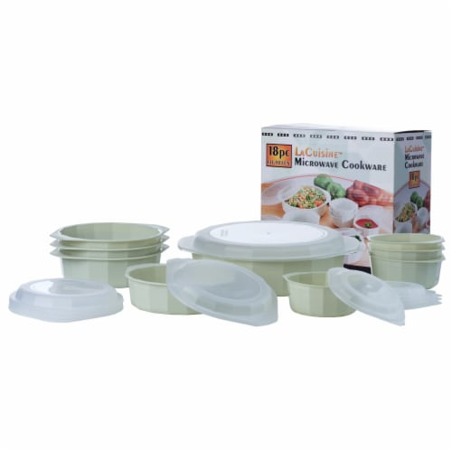 LaCuisine 18pc Microwave Cookware Set Perspective: back