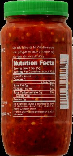 Huy Fong Chili Garlic Sauce Perspective: back