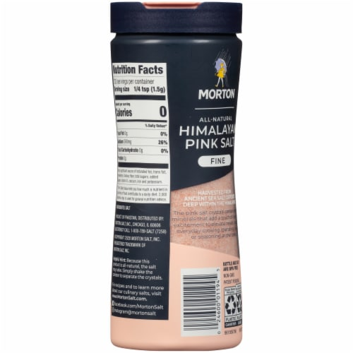 Morton Fine All Natural Himalayan Pink Salt Perspective: back