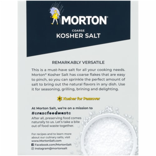 Morton Coarse Kosher Salt Perspective: back
