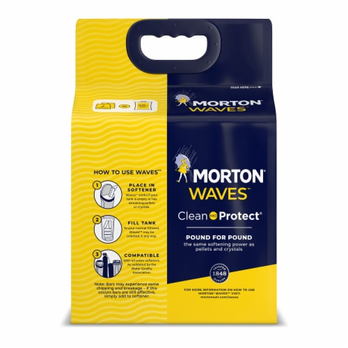 Morton Waves Clean and Protect Water Softener Salt Bars Perspective: back