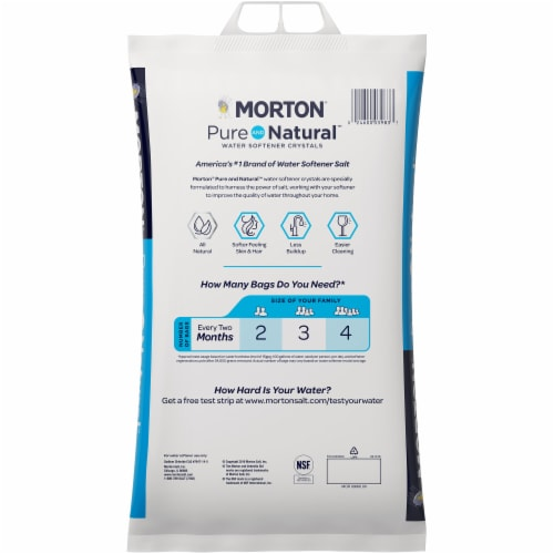 Morton Pure & Natural Water Softener Crystals Perspective: back
