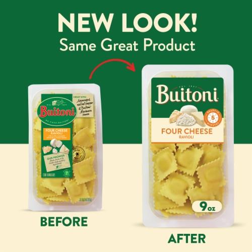 Buitoni Four Cheese Ravioli Pasta Perspective: back