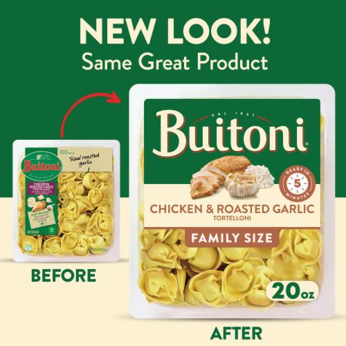 Buitoni Chicken & Roasted Garlic Tortelloni Pasta Perspective: back