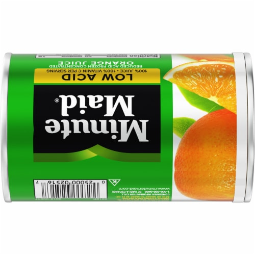 Minute Maid Low Acid Frozen Concentrated Orange Juice Perspective: back