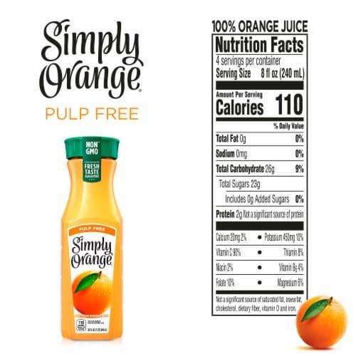 Simply Orange Pulp Free Juice Perspective: back