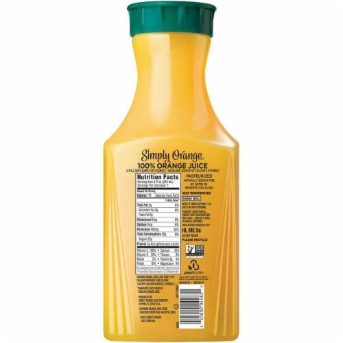 Simply Orange Medium Pulp Juice with Calcium & Vitamin D Perspective: back