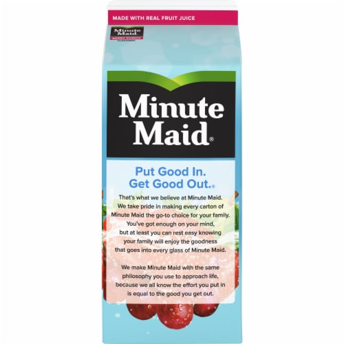 Minute Maid Berry Punch Fruit Juice Drink Perspective: back