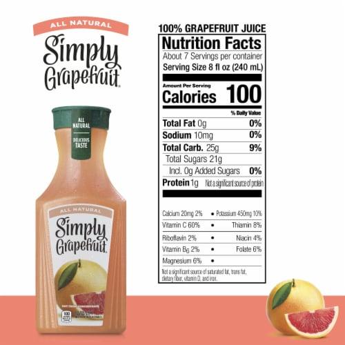 Simply Grapefruit Juice Drink Perspective: back