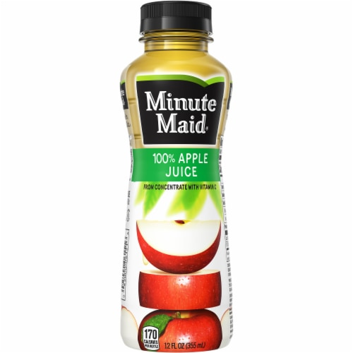 Minute Maid 100% Apple Juice Perspective: back
