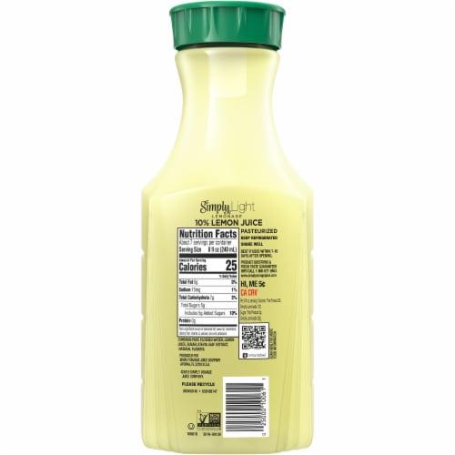 Simply Light Lemonade Juice Drink Perspective: back