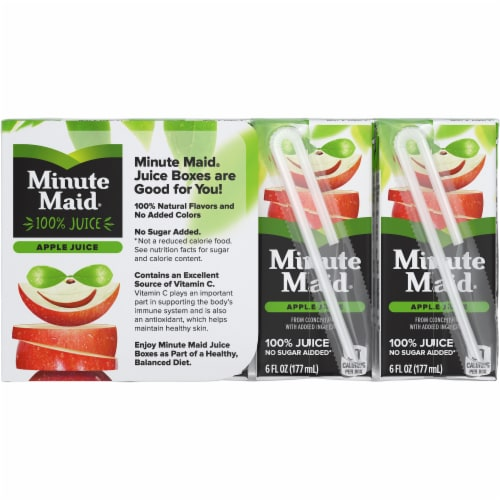 Minute Maid Apple Juice Boxes Perspective: back