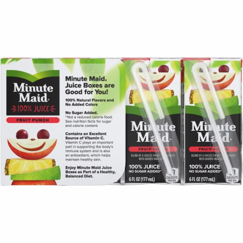 Minute Maid Fruit Punch Juice Boxes Perspective: back