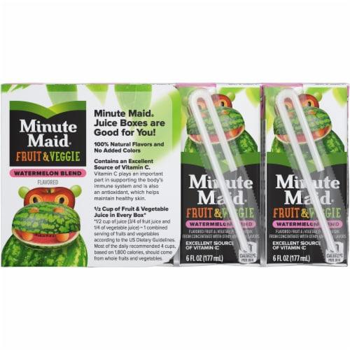 Minute Maid® Fruit & Veggie Watermelon Blend Juice Boxes Perspective: back