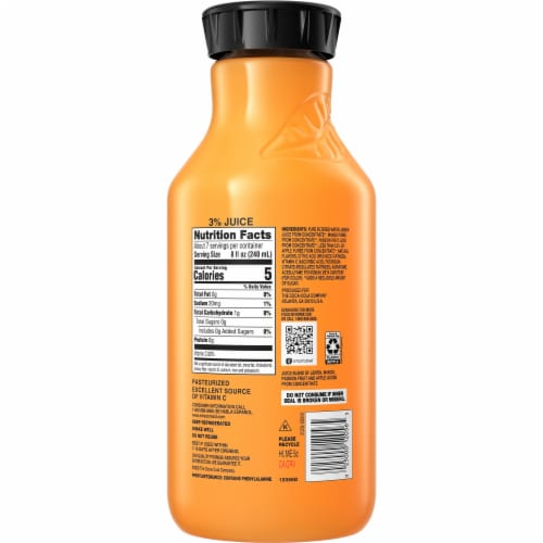 Minute Maid Zero Sugar Mango Passion Flavored Fruit Juice Drink Perspective: back