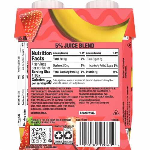 Minute Maid® Super Smoothies Strawberry Banana Smoothies Perspective: back