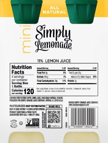 Simply Lemonade Mini Juice Drink Perspective: back