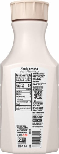 Simply Almond Unsweetened Vanilla Almondmilk Perspective: back
