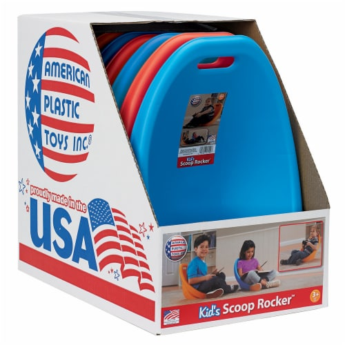 American Plastic Toys Scoop Rocker Chair - Red/Blue Perspective: back