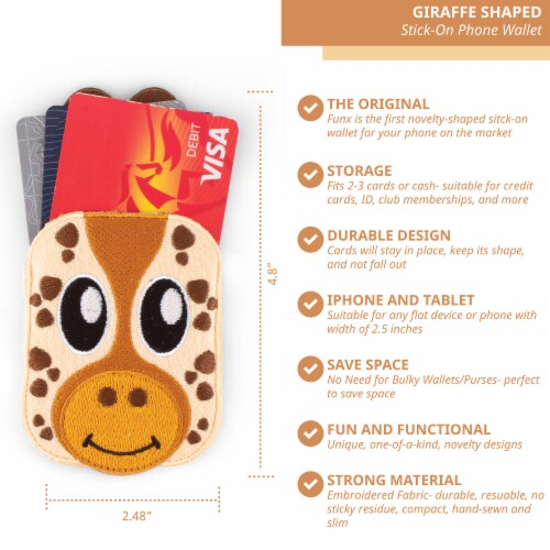 Giraffe Shaped Stick-On Phone Wallet Perspective: back