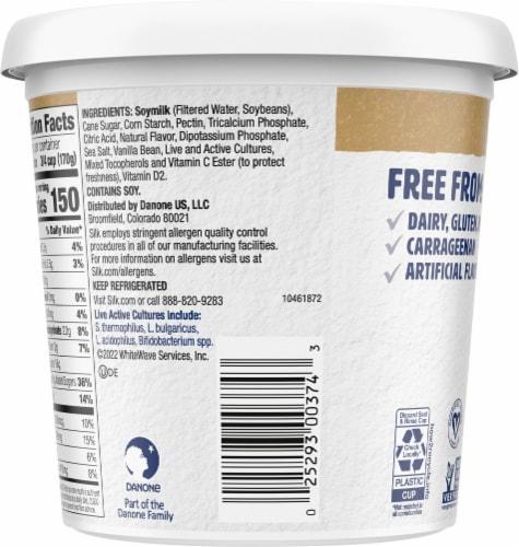 Silk Vanilla Dairy-Free Soy Yogurt Alternative Perspective: back