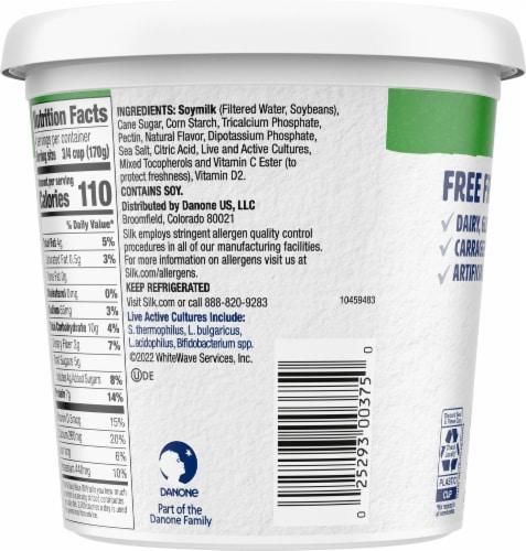 Silk® Plain Dairy-Free Soy Yogurt Alternative Perspective: back