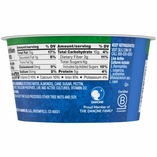 Silk®Plain Plain Almondmilk Yogurt Perspective: back