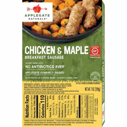 Applegate Naturals® Chicken & Maple Breakfast Sausage Perspective: back