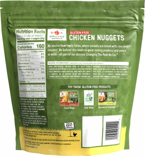 Applegate Natural Gluten-Free Chicken Nuggets Perspective: back