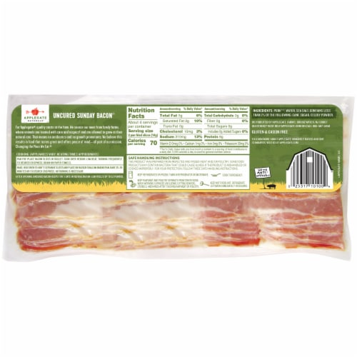 Applegate Natural Uncured Sunday Bacon Perspective: back
