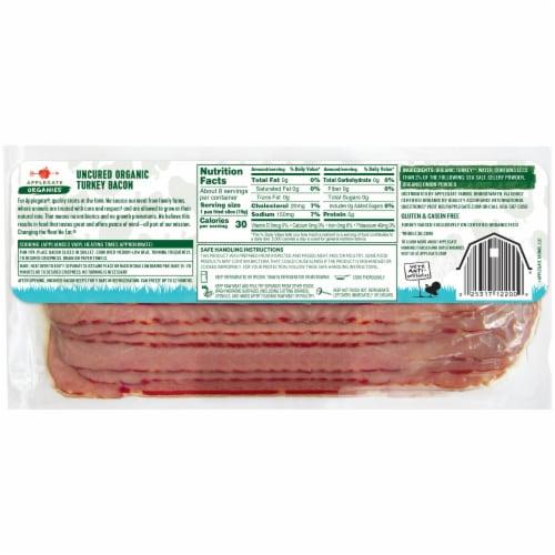 Applegate Organics Uncured Turkey Bacon Perspective: back