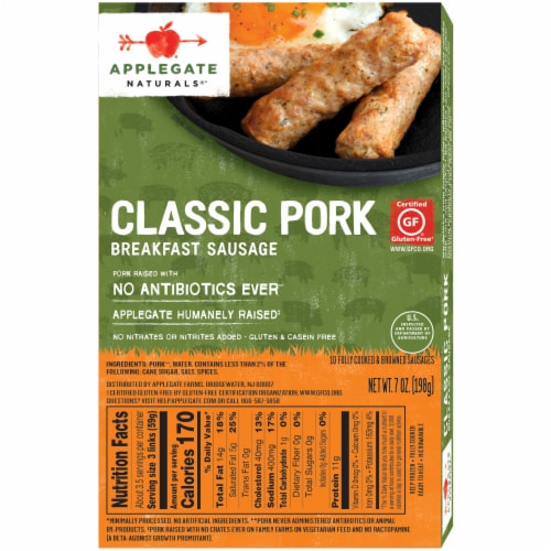 Applegate Natural Classic Pork Breakfast Sausage Perspective: back