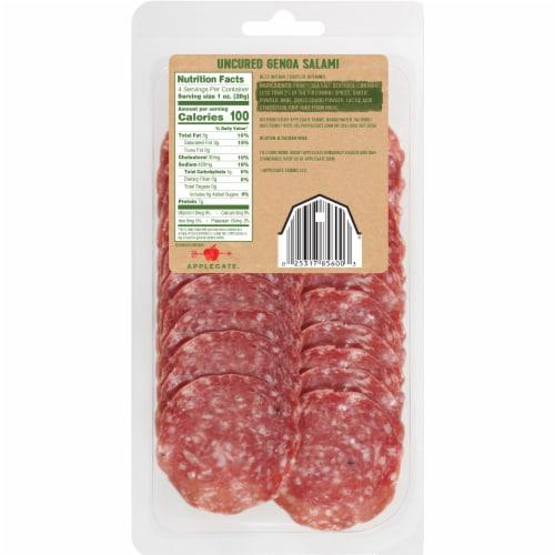 Applegate Naturals Uncured Genoa Salami Perspective: back