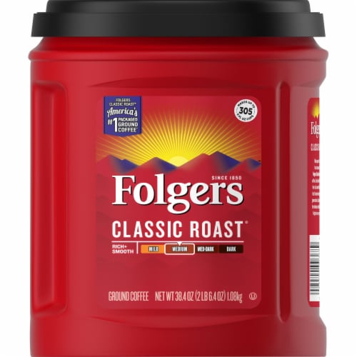 Folgers Classic Roast Medium Ground Coffee Perspective: back