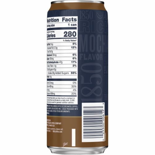 Folgers 1850 Mocha Iced Coffee Perspective: back