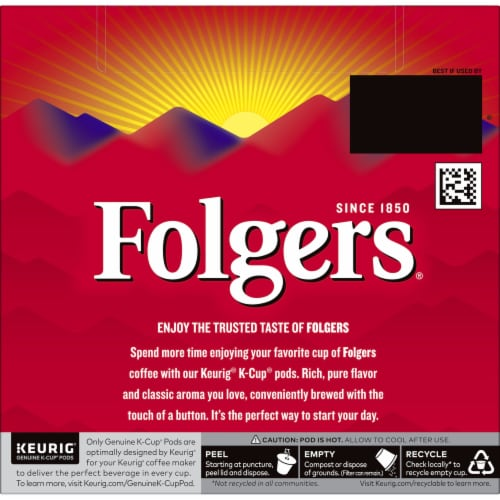 Folgers Classic Roast Coffee K-Cup Pods Perspective: back