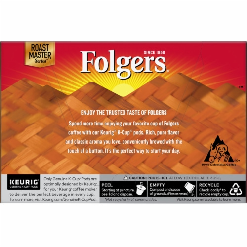Folgers Gourmet Lively Colombian K-Cup Pods Perspective: back