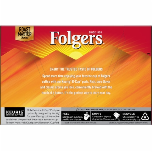 Folgers Gourmet Selections Morning Cafe K-Cup Pods 12 Count Perspective: back