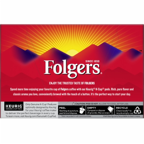 Folgers Gourmet Classic Roast K-Cup Pods Perspective: back