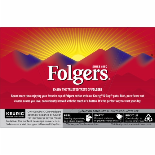 Folgers Half Caff Coffee K-Cup Pods Perspective: back