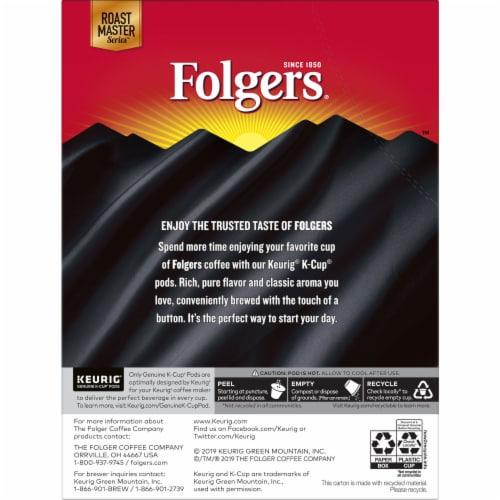 Folgers Black Silk Dark Roast Coffee K-Cup Pods Perspective: back