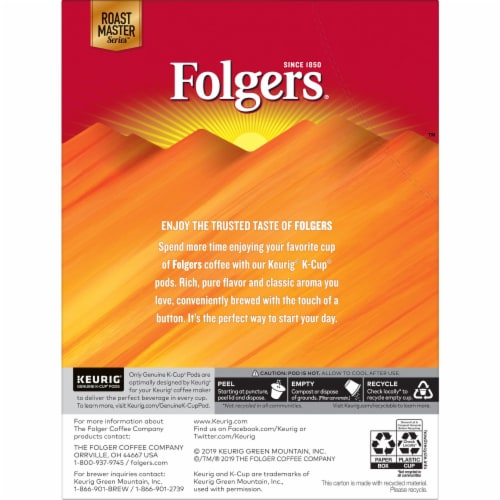 Folgers Morning Cafe Mild Roast Coffee K-Cup Pods Perspective: back