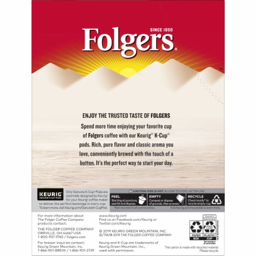 Folgers Caramel Drizzle Coffee K-Cup Pods Perspective: back
