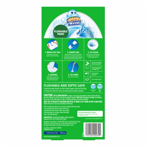Scrubbing Bubbles Fresh Brush Toilet Cleaning System Starter Kit Perspective: back
