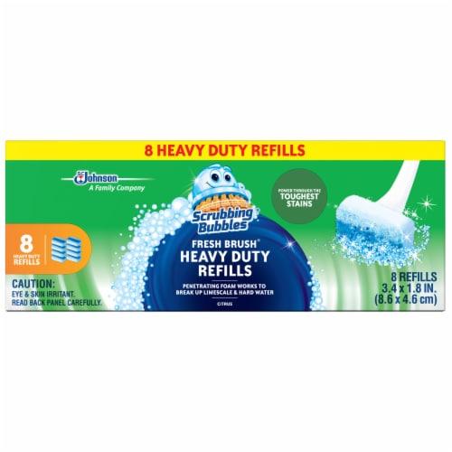 Scrubbing Bubbles Fresh Brush Citrus Heavy Duty Refills Perspective: back