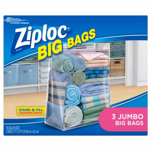 Ziploc® Big Bags Plastic Storage Bags - 3 Pack Perspective: back