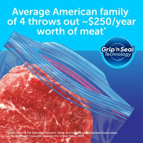 Ziploc Double Zipper Gallon Freezer Bags Perspective: back