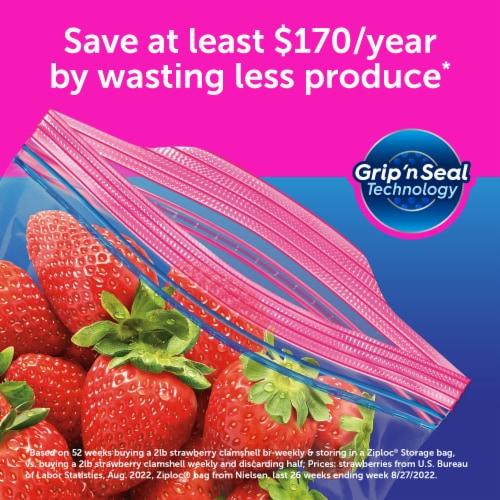 Ziploc Grip 'n Seal Gallon Storage Bags Perspective: back