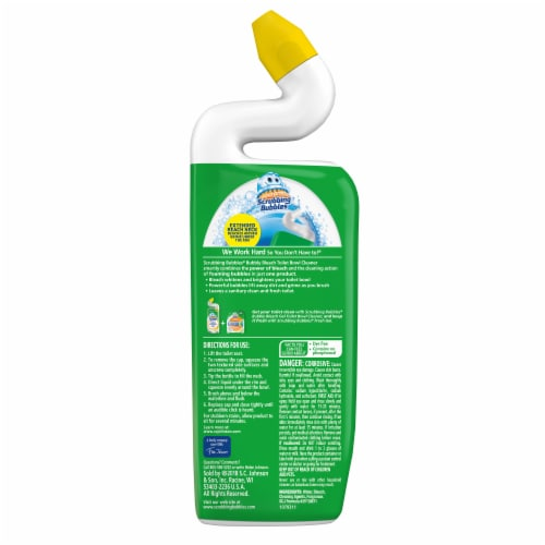 Scrubbing Bubbles Citrus Bubbly Bleach Gel Toilet Bowl Cleaner Perspective: back
