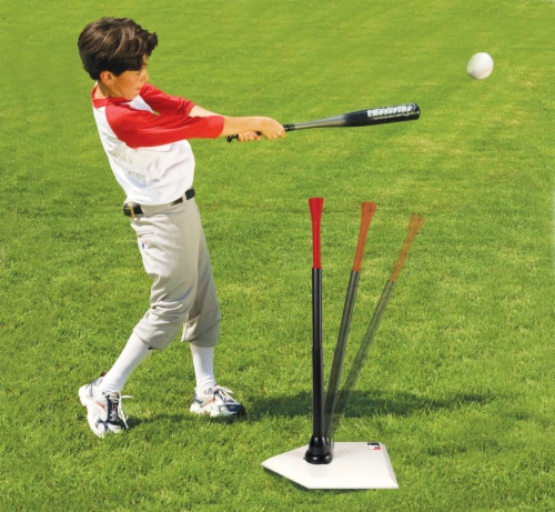 Franklin MLB Spring Swing Anti-Tip Batting Tee Perspective: back